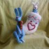 Два зайца и валенок