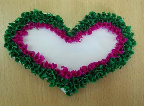 Сердечки в технике торцевания